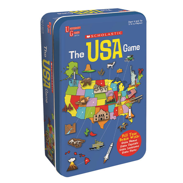 The Scholastic USA Game Tin