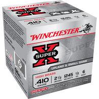 """Winchester Super-X High Brass Ammo, .410 bore, 2-1/2"""", 1/2-oz., #6"""