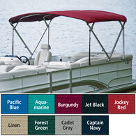 "Traditional Pontoon Bimini Top Sunbrella Acrylic, 1"" Standard Frame 90""-96"" Wide"