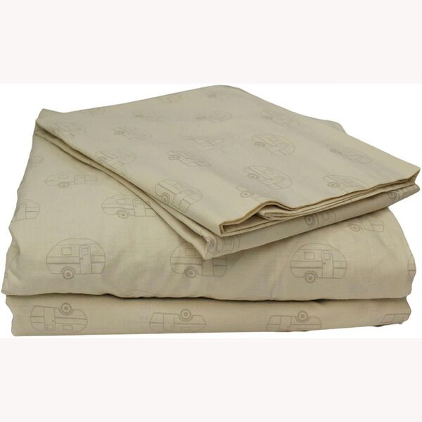 100% Cotton Taupe Sheets