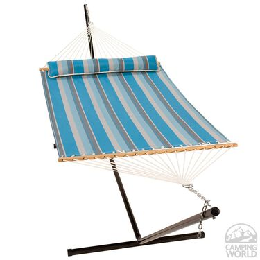 Quick Dry Hammock with Pillow, Ocean Stripe, 13'
