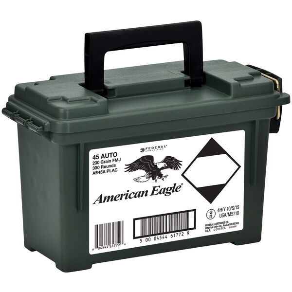 American Eagle Handgun Ammo Plano Ammo Can, .45 ACP, 230-gr., 300 Rounds