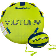 Gladiator Victory 1-Person Towable Tube with Booster Ball & 60' Tow Rope