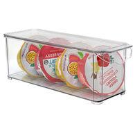 Gourmet Kitchen Refrigerator Snacks Bin with Lid