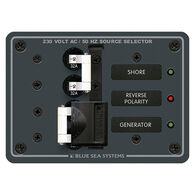 Blue Sea 230V AC Source Selection Circuit Breaker Panel, 2 (32A) Sources
