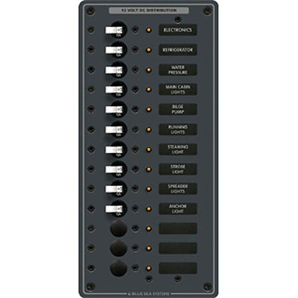 Blue Sea 12/24V DC Branch Circuit Breaker Panel - 13 Positions