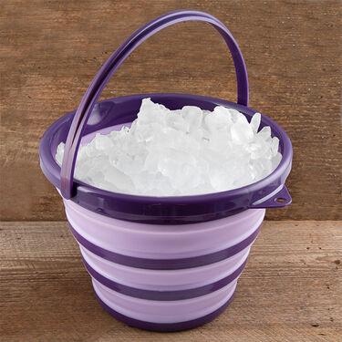 Robert Irvine 10-Quart Collapsible Bucket, Purple