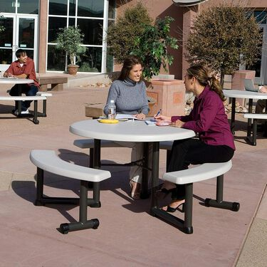 """Round Picnic Table, 44"""""""