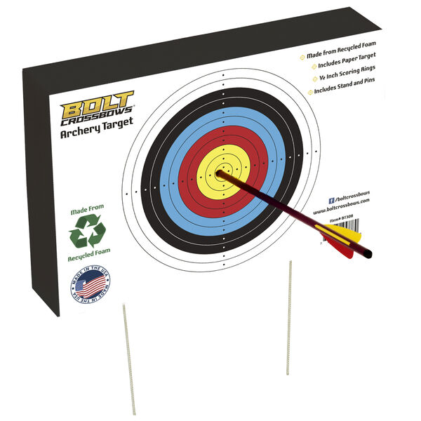 "BOLT Crossbows 12"" x 18"" Archery Target"