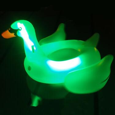 Swimline Giant LED Swan Ride-On Float
