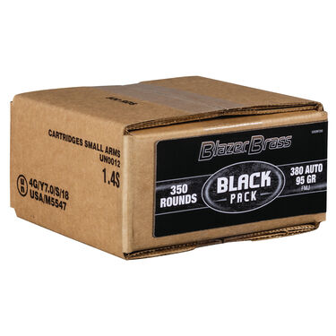 Federal Black .380 ACP Blazer Brass Box (350ct)
