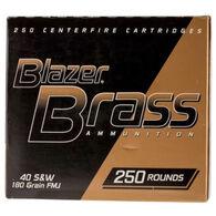 Blazer Brass Handgun Ammo Bulk Pack, .40 S&W