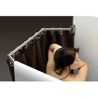 Extend-A-Shower Expanding Shower Rod, Satin Finish