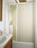 "Pleated Shower Door, White - Up to 36"" W x 57"" L"