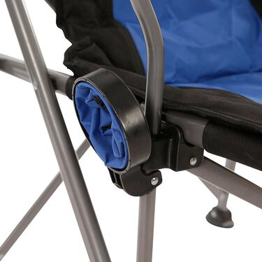 Padded Quad Chair, Blue