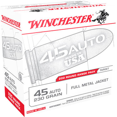 Winchester USA Handgun Ammo Range Pack, .45 ACP, 230-gr., FMJ