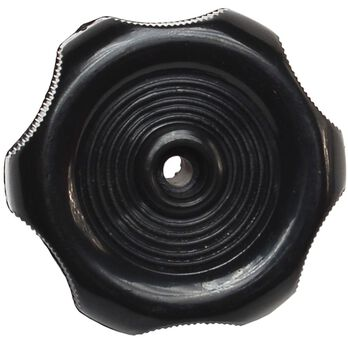 "Black Window Knob - 1"" Shaft"