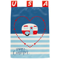 USA Happy Camper Flag