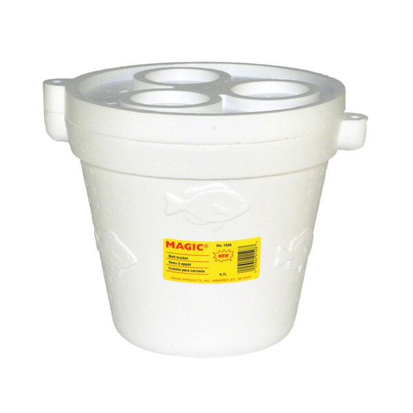 Magic 8-Quart Foam Minnow Bucket With Cover
