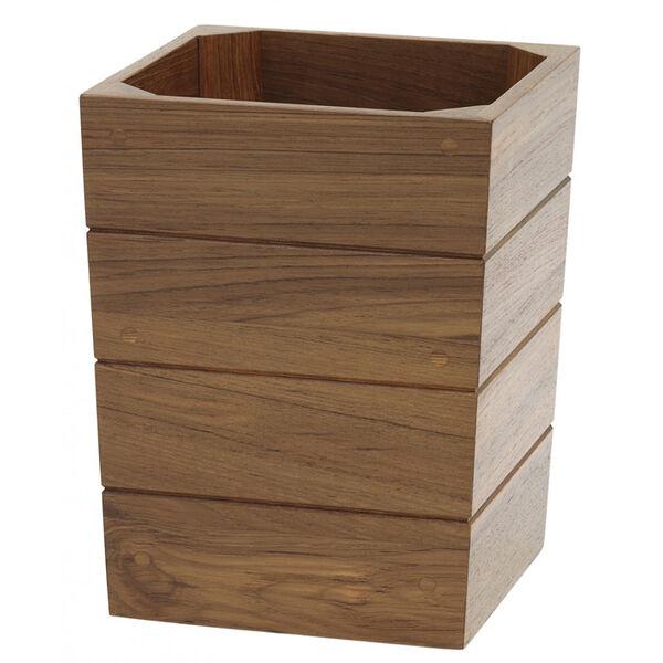 Whitecap Teak Waste Basket