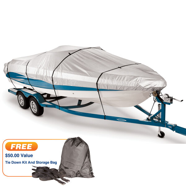 """Covermate 300 Trailerable Cover for 16'-18'6"""" Fish and Ski, Pro Bass Boat"""