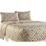 Micro Flannel® RV Bedspread, Short Queen - Camping