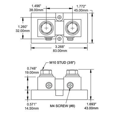 Blue Sea DC Current Shunt 500A/50mV, Digital