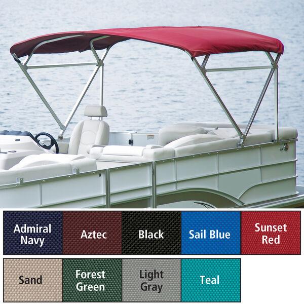 "Traditional Pontoon Bimini Top SurLast Polyester, 1-1/4"" Free Standing 96""-102""W"
