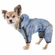 Dog Helios ® 'Torrential Shield' Waterproof Multi-Adjustable Full Bodied Pet Dog Windbreaker Raincoat, Royal Blue Medium