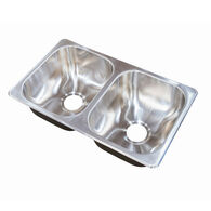 Better Bath Double Drawn Stainless Steel Sink