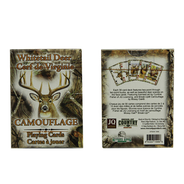River's Edge Mossy Oak Deer Playing Cards