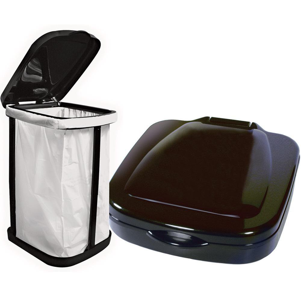 Table Portable Trash Garbage Plastic Bag Holder Bracket Organizer Support for Outdoor Indoor Travel Use Trash Bag Rack