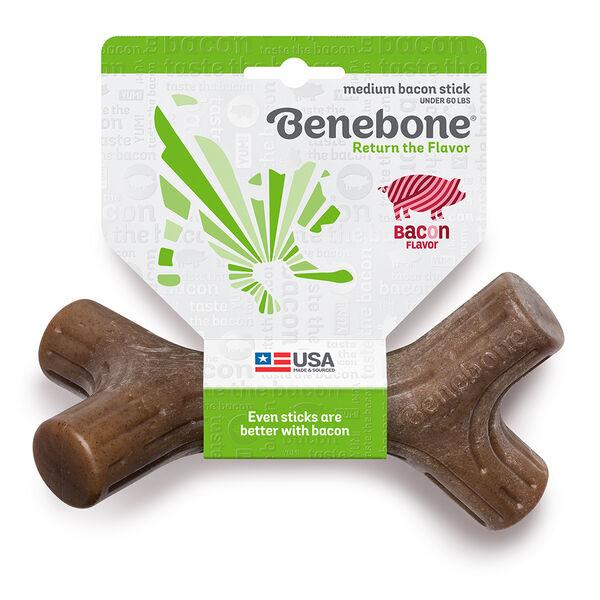 Benebone Bacon Stick Chew Toy, Medium