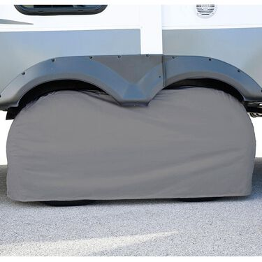 """Elements Gray Double Tire Cover, 27""""-29"""""""
