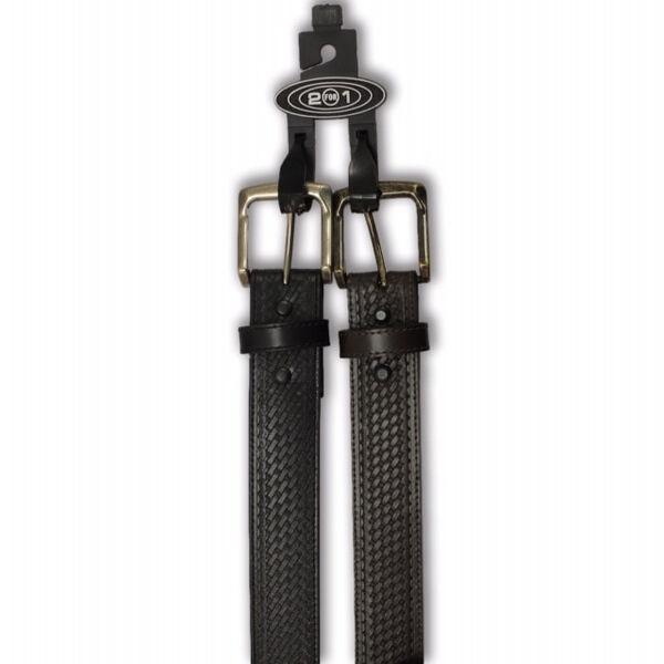 American Endurance Men's Basket-weave Design Belts, 2-Pack