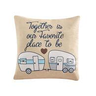 """Together Throw Pillow, Tan, 16"""" x 16"""""""