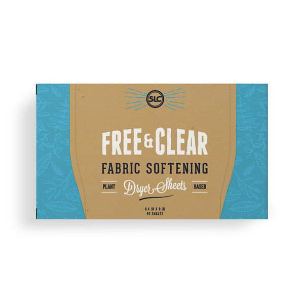 Sheets Laundry Club Fabric Softening Dryer Sheets, Free & Clear Unscented, 40 Sheets