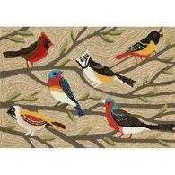 """Natural Bird Rug, 24"""" x 36"""""""