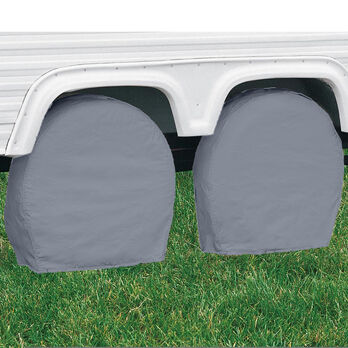 "Overdrive RV Tire Covers, Pair - Tire diameter 40""-42"", Gray"