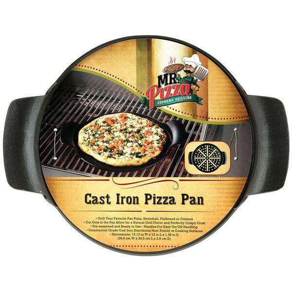 Mr. Bar-B-Q Pre-Seasoned Cast Iron Pizza Pan