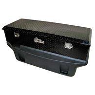 Large Locking Black Diamond Plate Aluminum Toolbox