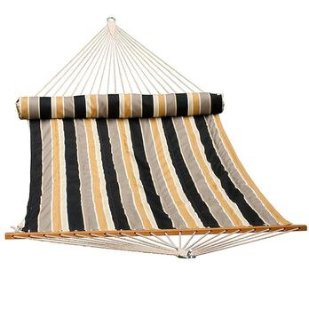 Quilted Hammock with Pillow, 13', Tan