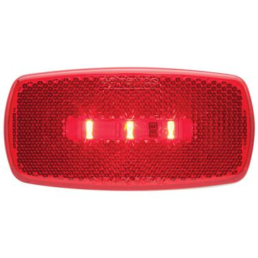 Oval LED Clearance/Marker Light; Replaceable Lens; Fleet Count; Red