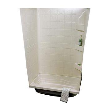 "ABS Tub Walls, 24"" x 38"" x 59"", Parchment"
