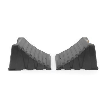 Nested Wheel Chocks, Set of 2, Dark Gray