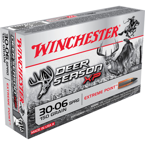 Winchester Deer Season XP Rifle Ammo, .30-06 Spring, 150-gr., Extreme Point
