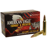 American Eagle Varmint & Predator Rifle Ammunition, .223 Rem, 50-gr., JHP