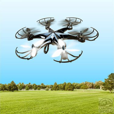 6 Rotor Drone with Wifi Camera, Black