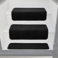"Prest-O-Fit Decorian 10"" x 23.5"" Step Hugger for RV Landings, Obsidian Black, Each"