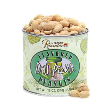 The Peanut Roaster Dill Pickle Flavored Peanuts, 12oz Can